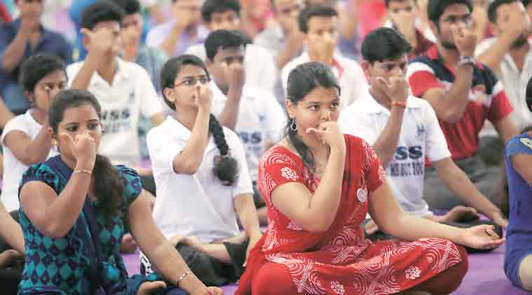 YOGIC PRACTICES TO COPE WITH STRESS OF  TWENTY FIRST CENTURY STUDENTS