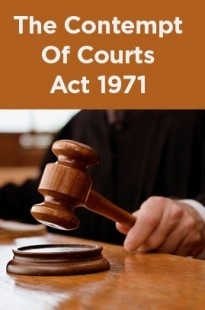CONTEMPT OF COURT ACT, 1971: A STUDY
